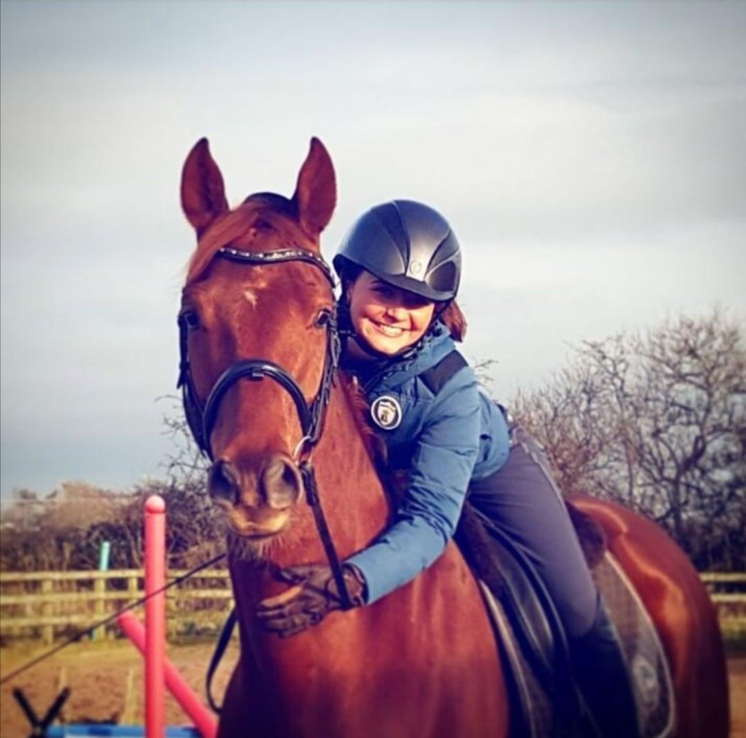 Eve Rice with Luigi, her Hanoverian