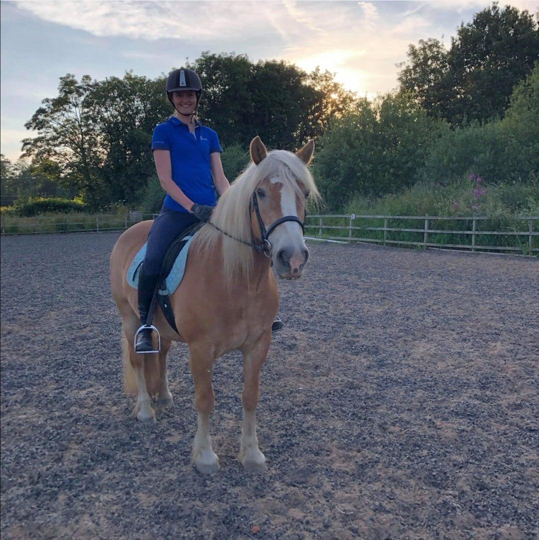 Karris Reeves with Honey, her Haflinger pony